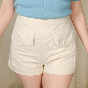 1960s Off White Pocket Shorts - Cats Like Us