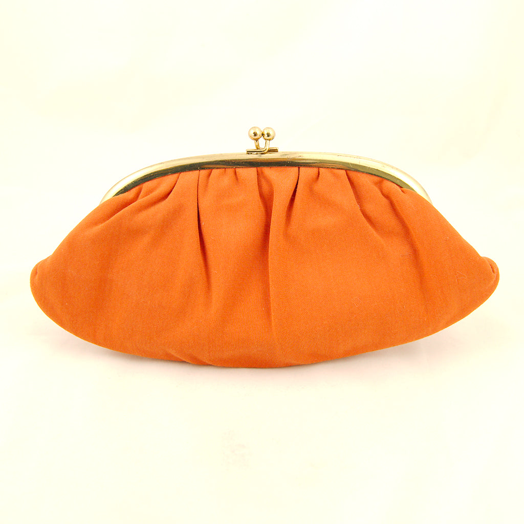 1960s Orange Clutch Handbag by Cats Like Us : Cats Like Us