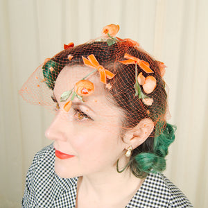 1960s Orange Floral Whimsy by Cats Like Us - Cats Like Us