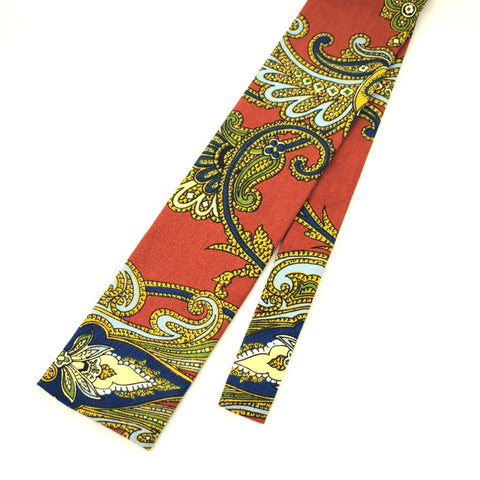 1960s Paisley Cotton Tie - Cats Like Us