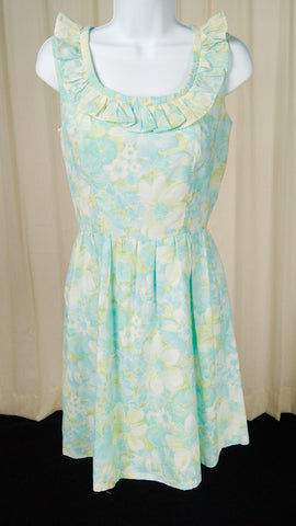 1960s Pastel Floral Dress by Cats Like Us - Cats Like Us