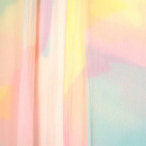 1960s Pastel Rainbow Maxi Dress - Cats Like Us