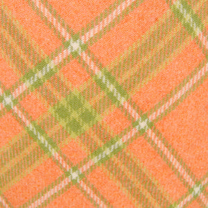 1960s Peach & Lime Plaid Skirt by Cats Like Us - Cats Like Us
