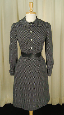 1960s Peter Pan Polka Dot Dress