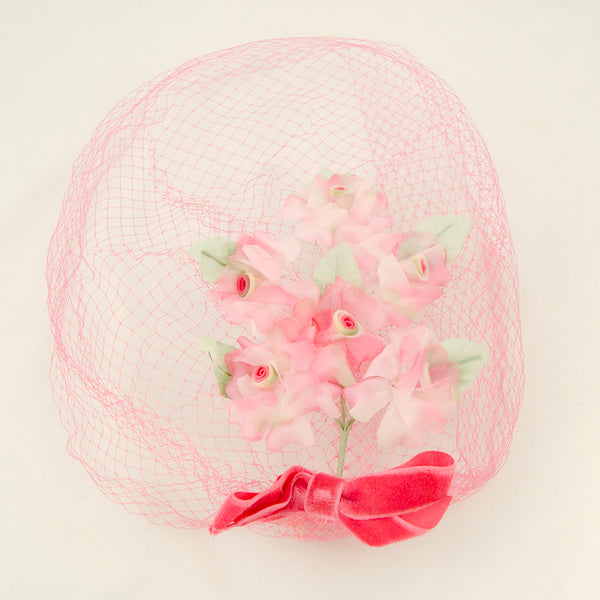 1960s Pink Bouquet Whimsy by Cats Like Us - Cats Like Us