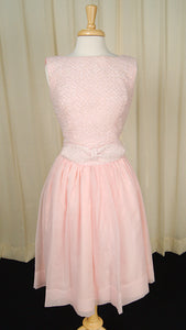 1960s Pink Bow Swing Dress