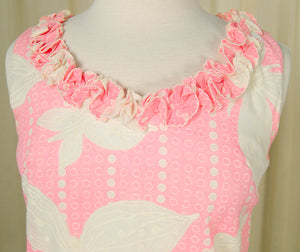 1960s Pink Dot Ruffle Mini by Vintage Collection by Cats Like Us - Cats Like Us