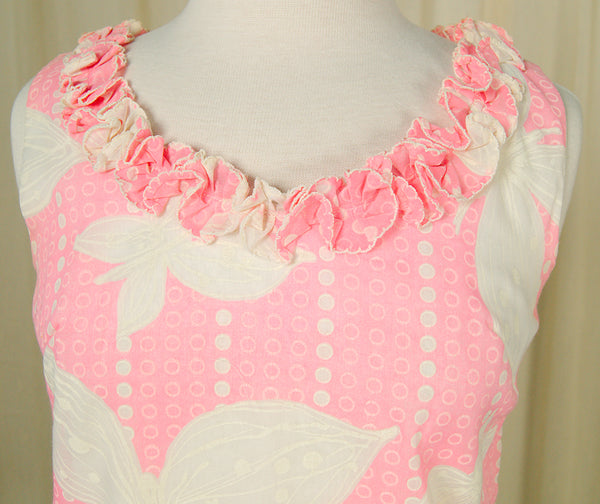 1960s Pink Dot Ruffle Mini by Vintage Collection by Cats Like Us : Cats Like Us