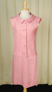 1960s Pink Drop Waist Dress by Cats Like Us : Cats Like Us