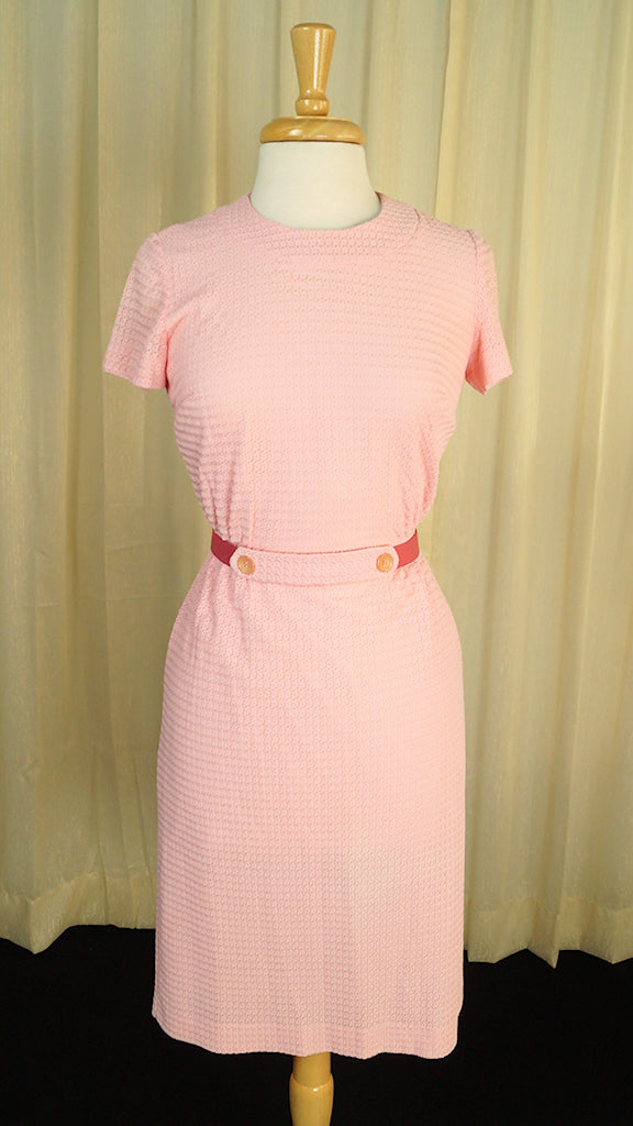 1960s Pink Wiggle Dress by Cats Like Us : Cats Like Us