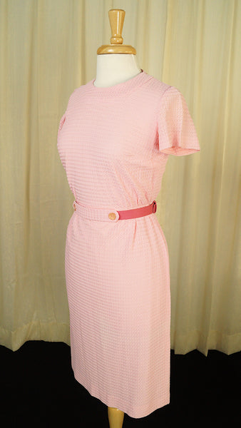 1960s Pink Wiggle Dress by Vintage Collection by Cats Like Us - Cats Like Us