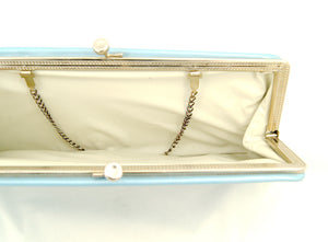 1960s Powder Blue Clutch Bag by Cats Like Us - Cats Like Us