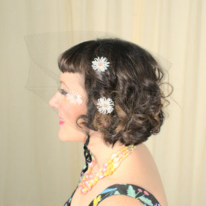 1960s Rainbow Daisy Hair Net