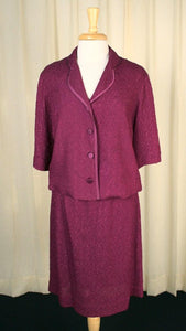 1960s Raspberry Crepe Suit - Cats Like Us