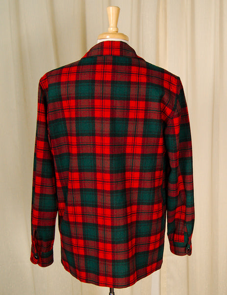 1960s Red & Green Plaid Jacket by Cats Like Us : Cats Like Us