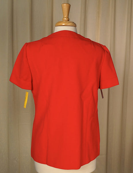 1960s Red Shirt w Pockets by Cats Like Us - Cats Like Us