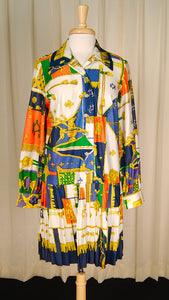 1960s Royalty Shirt Dress by Cats Like Us - Cats Like Us