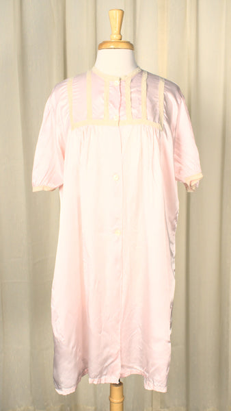 1960s Satin Dressing Gown