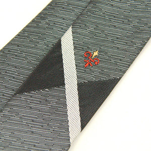 1960s Sharkskin Gray Tie by Cats Like Us - Cats Like Us