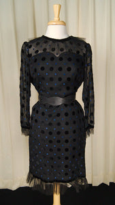 1960s Sheer Polka Dot Dress - Cats Like Us