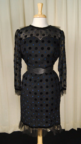 1960s Sheer Polka Dot Dress
