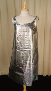 1960s Silver Paper Dress