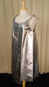 1960s Silver Paper Dress by Vintage Collection by Cats Like Us - Cats Like Us