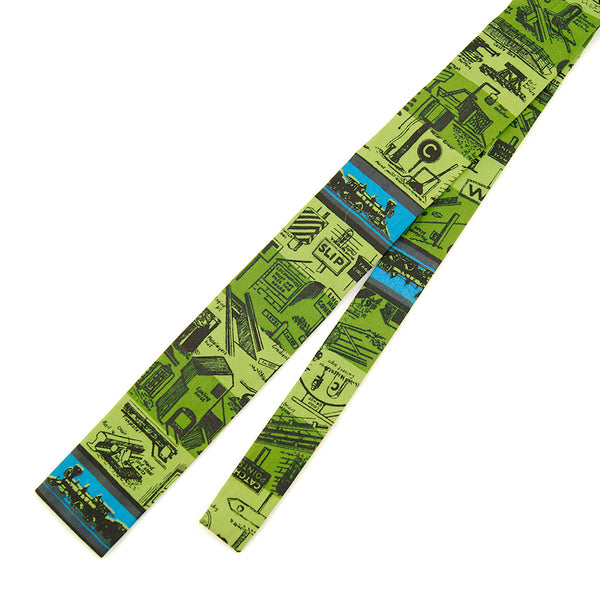 1960s Skinny Locomotive Tie by Cats Like Us - Cats Like Us