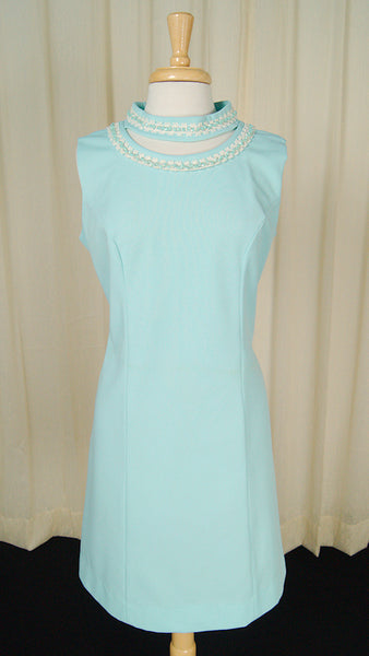 1960s Sky Blue Glitter Dress by Cats Like Us - Cats Like Us
