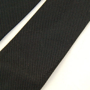 1960s Solid Black Skinny Tie by Cats Like Us - Cats Like Us