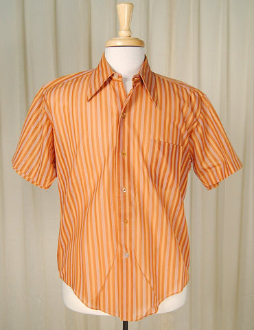1960s SS Striped Nylon Shirt