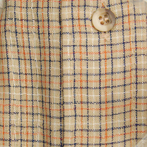 Vintage 1960s SS Tan & Navy Plaid Shirt