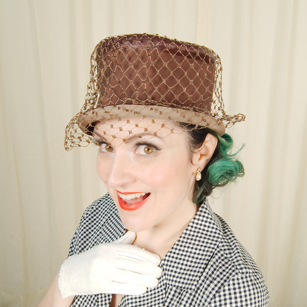 1960s Straw & Netting Hat by Cats Like Us - Cats Like Us