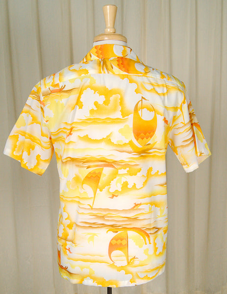1960s Sunset Hawaiian Shirt by Cats Like Us - Cats Like Us