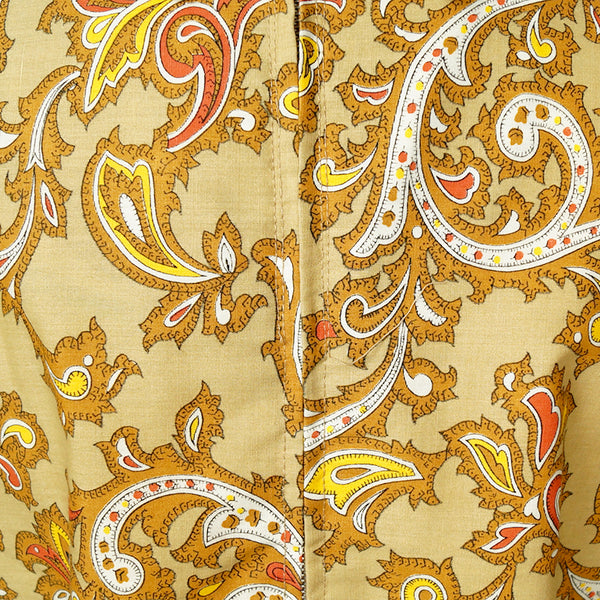 1960s Tan Paisley Tie Dress by Vintage Collection by Cats Like Us - Cats Like Us