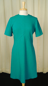 1960s Teal Scooter Dress by Vintage Collection by Cats Like Us - Cats Like Us