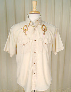 1960s Western Rope Shirt by Cats Like Us - Cats Like Us