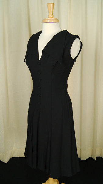 1960s Wide Collar Witch Dress by Vintage Collection by Cats Like Us - Cats Like Us