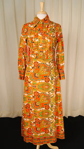 1960s Wild Paisley Maxi Dress by Vintage Collection by Cats Like Us : Cats Like Us
