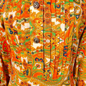 1960s Wild Paisley Maxi Dress by Vintage Collection by Cats Like Us - Cats Like Us