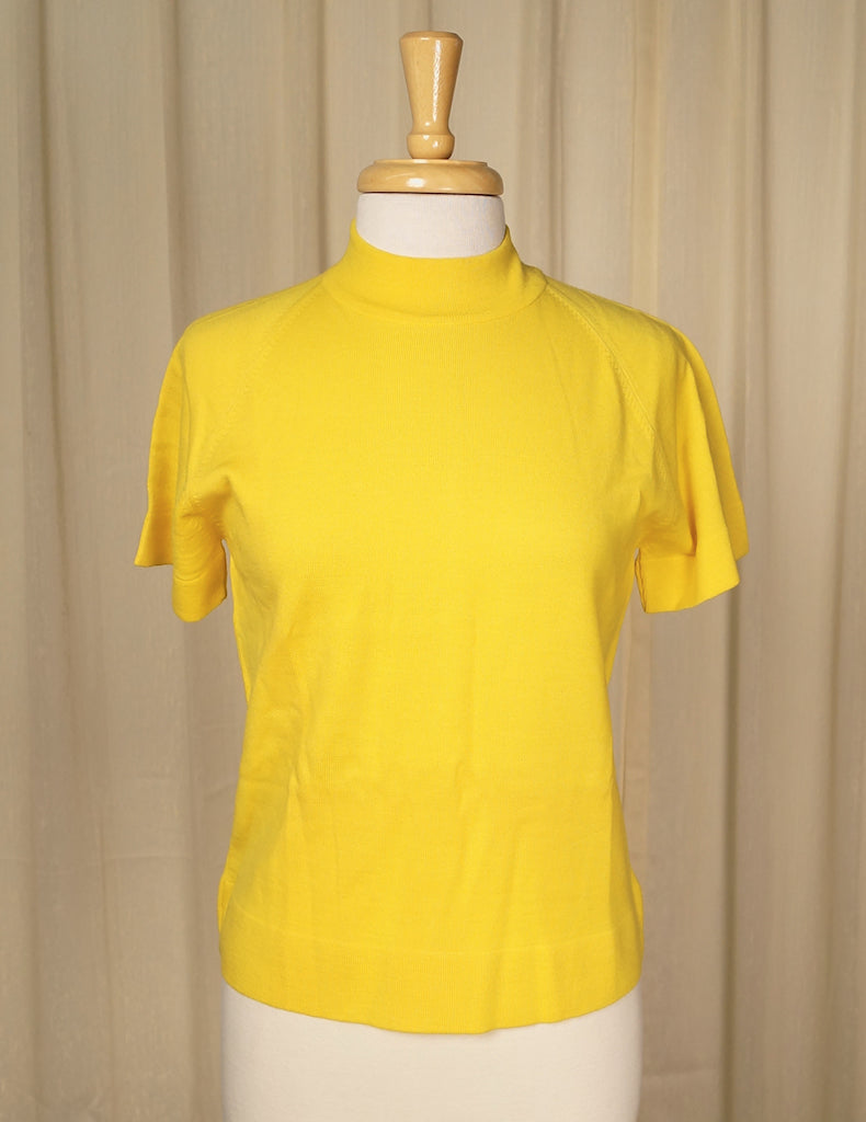 1960s Yellow Raglan Sweater by Cats Like Us - Cats Like Us