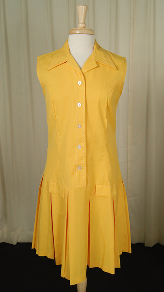 1960s Yellow Shirt Dress by Vintage Collection by Cats Like Us : Cats Like Us