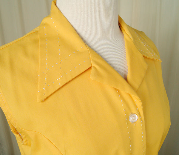 1960s Yellow Shirt Dress by Vintage Collection by Cats Like Us - Cats Like Us