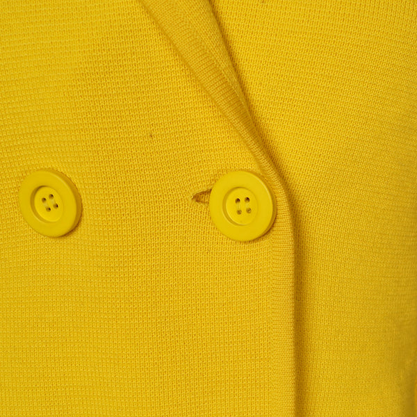 1960s Yellow Wool Pea Coat by Cats Like Us - Cats Like Us