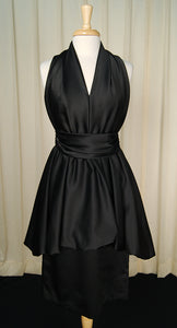 1970s Black Bubble Dress