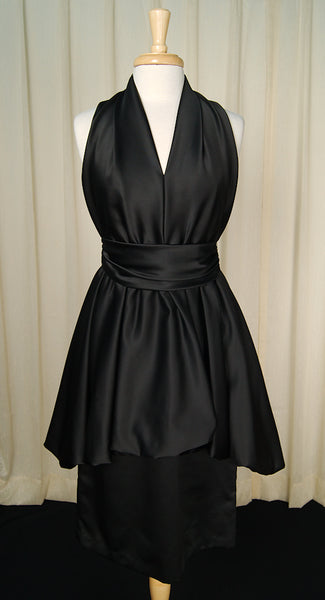 1970s Black Bubble Dress by Cats Like Us - Cats Like Us