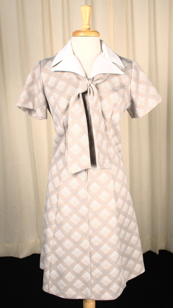 Vintage 1970s Geometric Shirt Dress