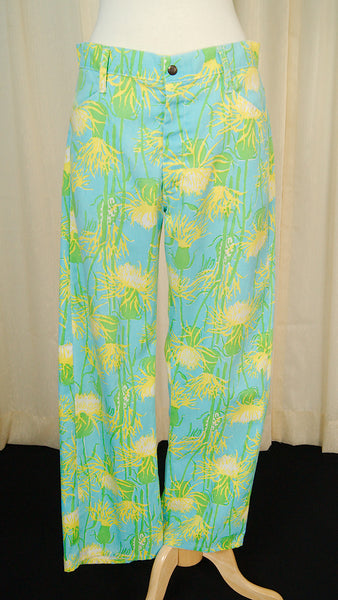 1970s Lilly Floral Pants by Cats Like Us - Cats Like Us