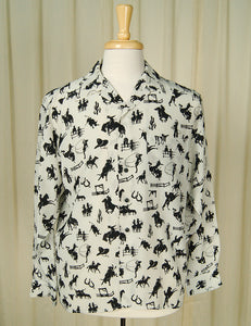 1990s does 1950s Cowboy Shirt by Cats Like Us : Cats Like Us