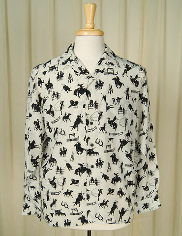1990s does 1950s Cowboy Shirt by Vintage Collection by Cats Like Us - Cats Like Us